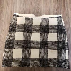 Plaid style mini skirt